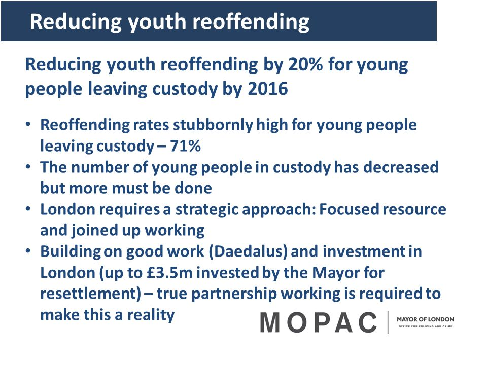 Reducing youth reoffending