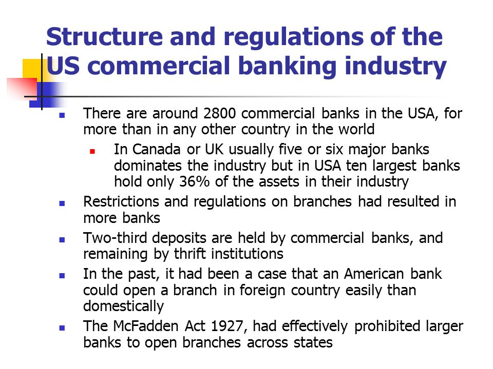 Economics Of Banking And Money Ppt Download - Major banks in usa