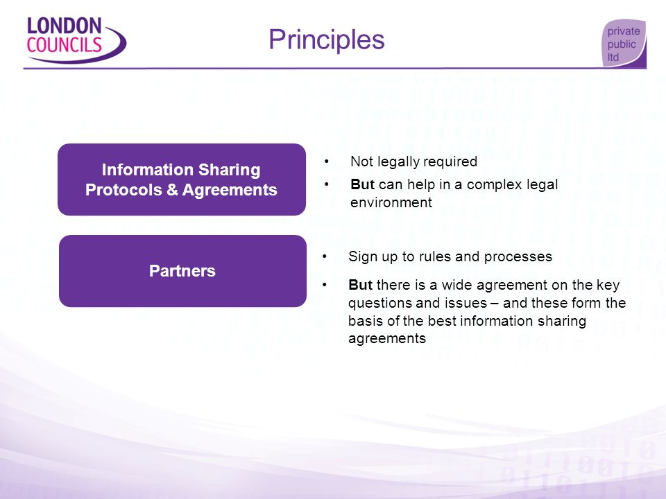 Information Sharing Protocols & Agreements
