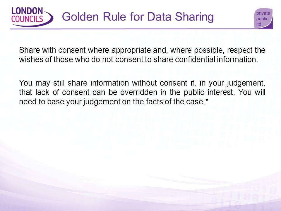 Golden Rule for Data Sharing