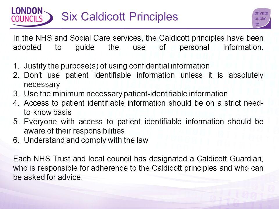 Six Caldicott Principles