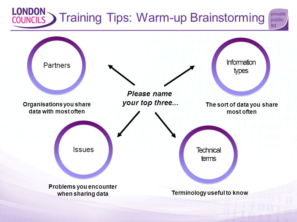 Training Tips: Warm-up Brainstorming