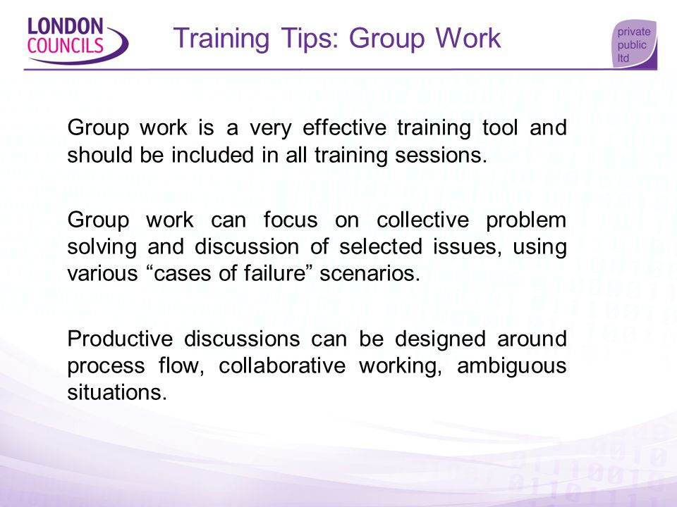 Training Tips: Group Work