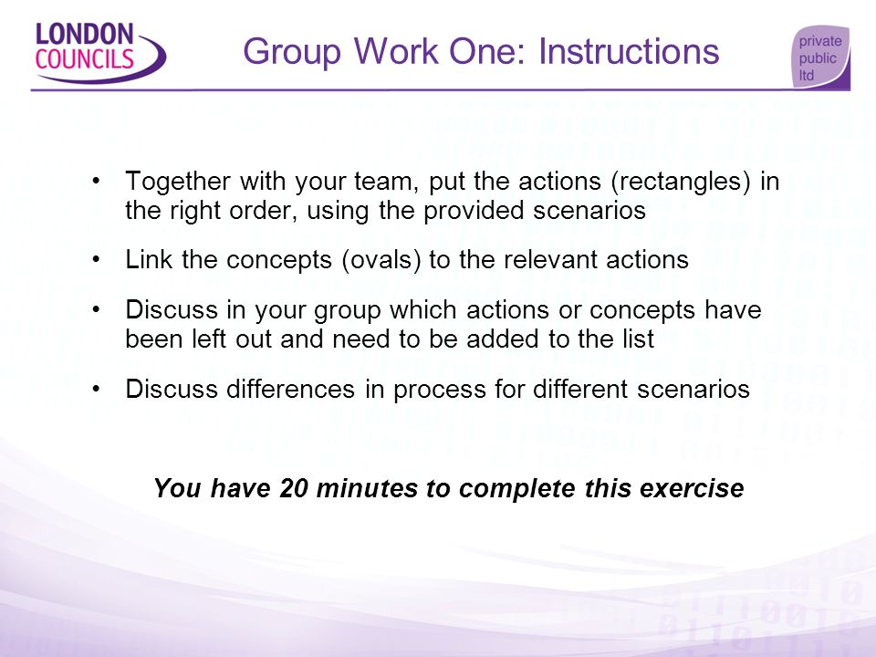Group Work One: Instructions