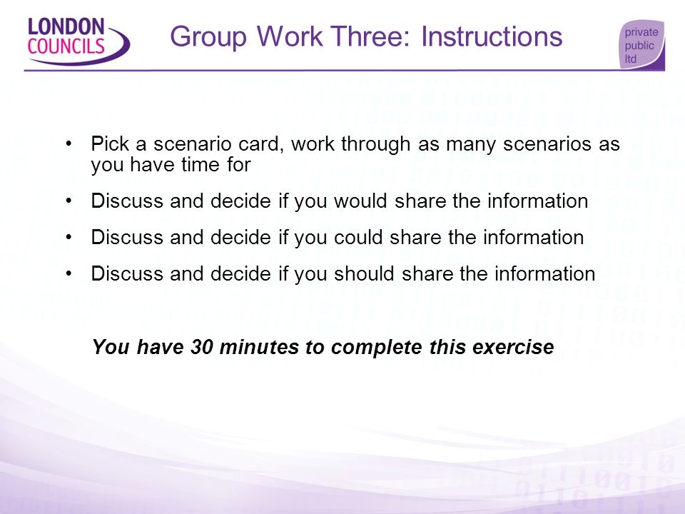 Group Work Three: Instructions