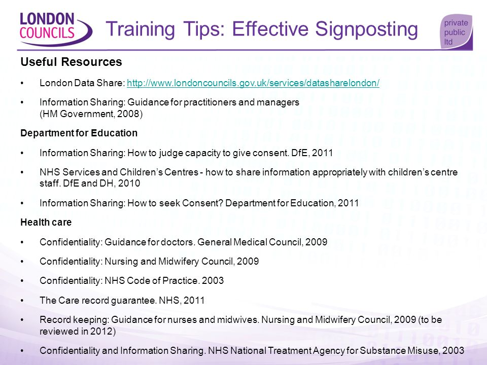 Training Tips: Effective Signposting