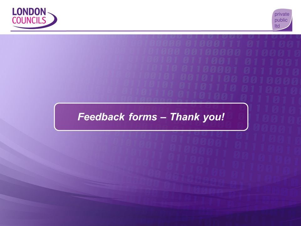 Feedback forms – Thank you!
