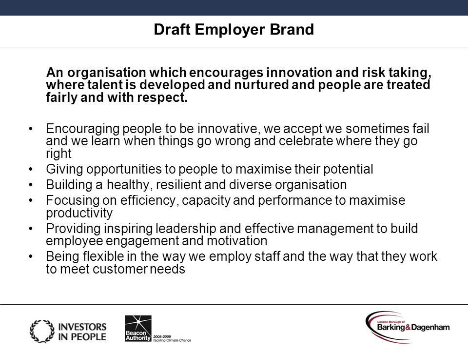 Draft Employer Brand