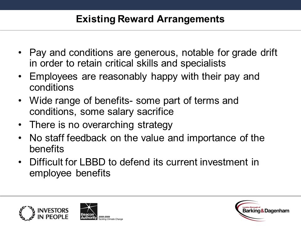 Existing Reward Arrangements