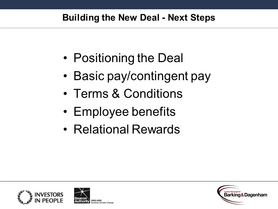 Building the New Deal - Next Steps