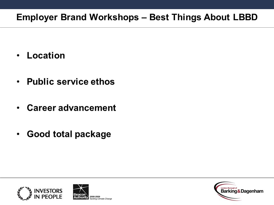 Employer Brand Workshops – Best Things About LBBD