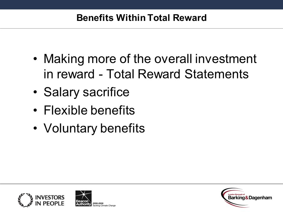 Benefits Within Total Reward
