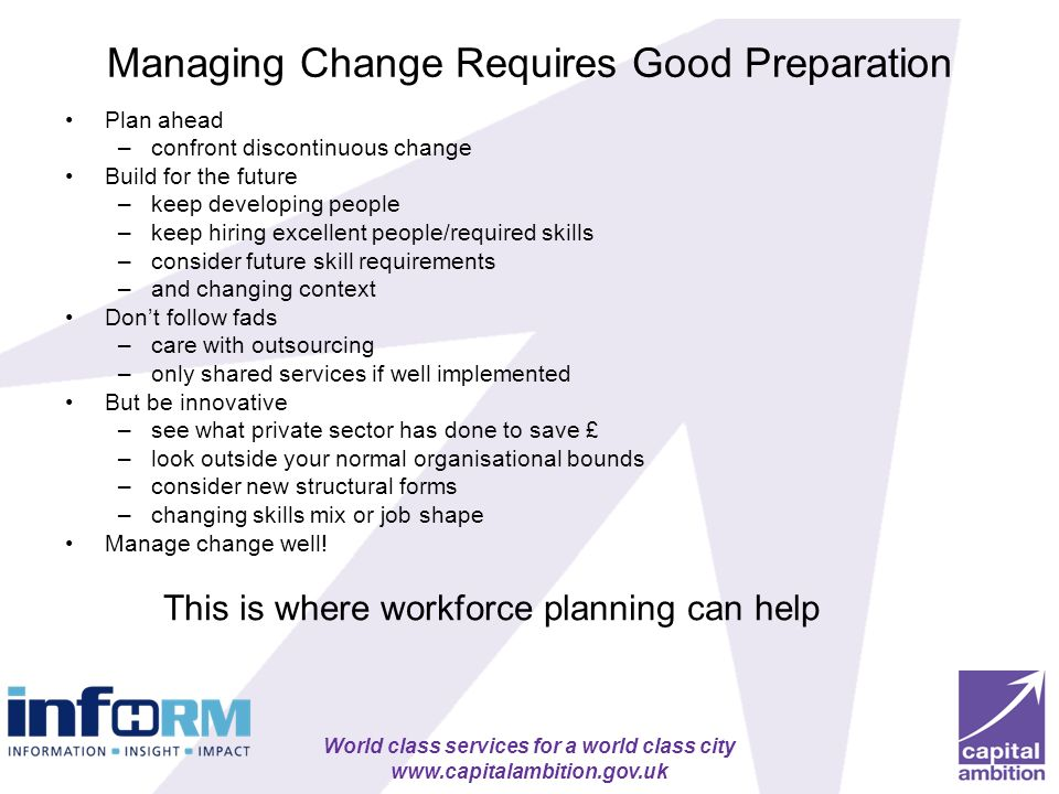 Managing Change Requires Good Preparation