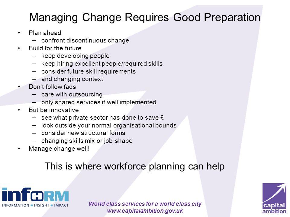 Managing Change Requires Good Preparation