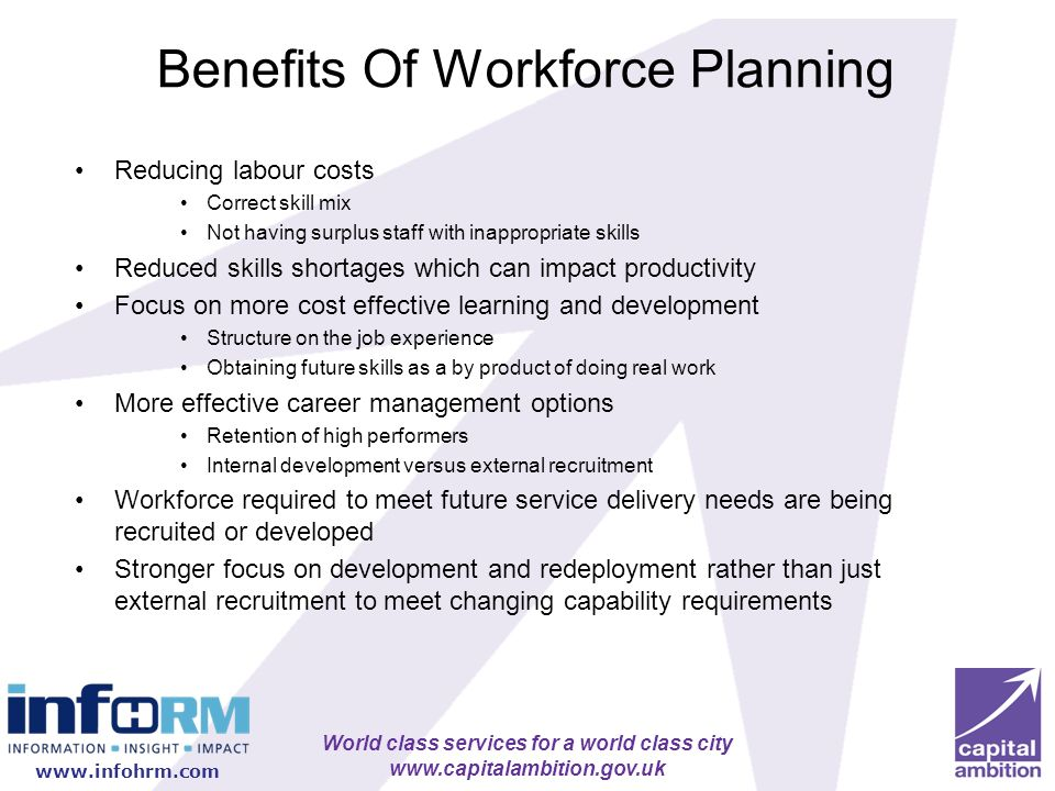 Benefits Of Workforce Planning