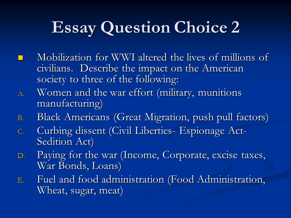 Write my essays on ww1