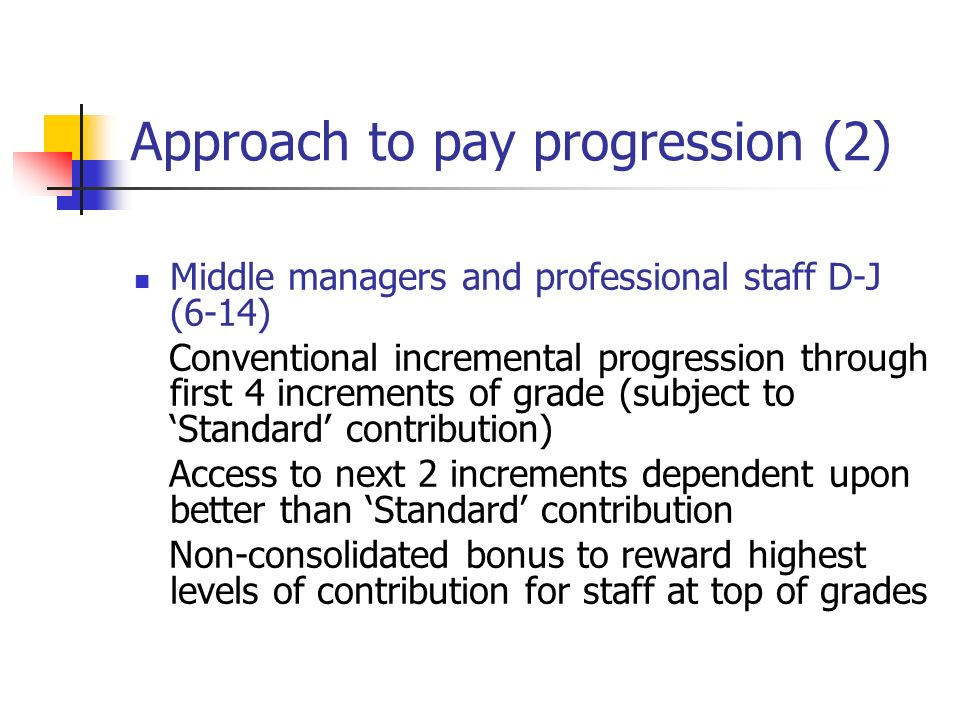 Approach to pay progression (2)