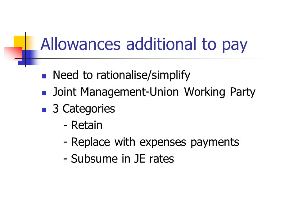 Allowances additional to pay