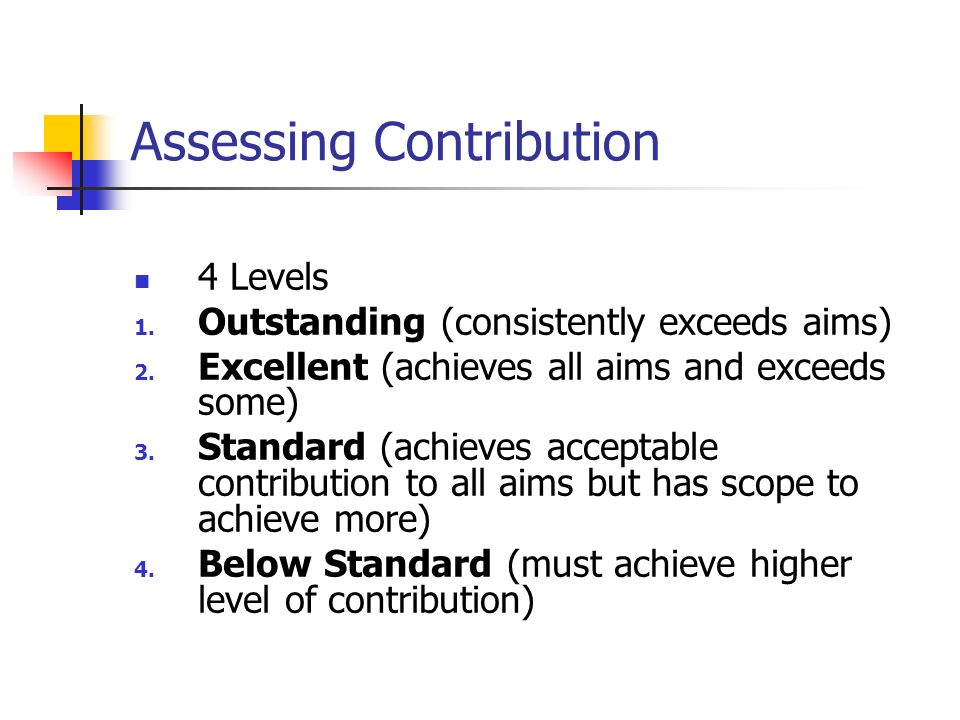 Assessing Contribution