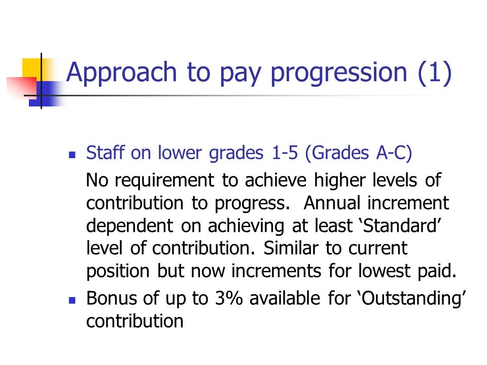 Approach to pay progression (1)