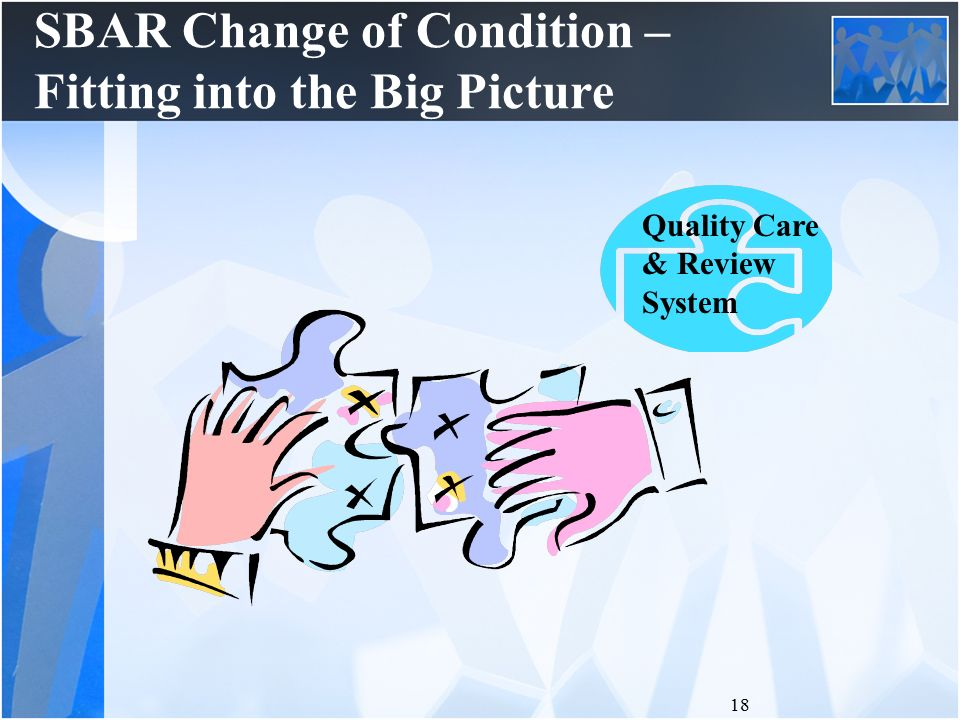 sbar change Nursing change-of-shift reporting, nursing report on patient transfer between units or facilities improving clinical communication using sbar.
