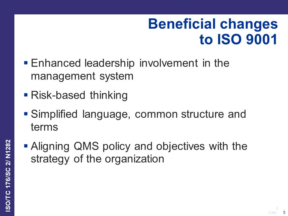Beneficial changes to ISO 9001