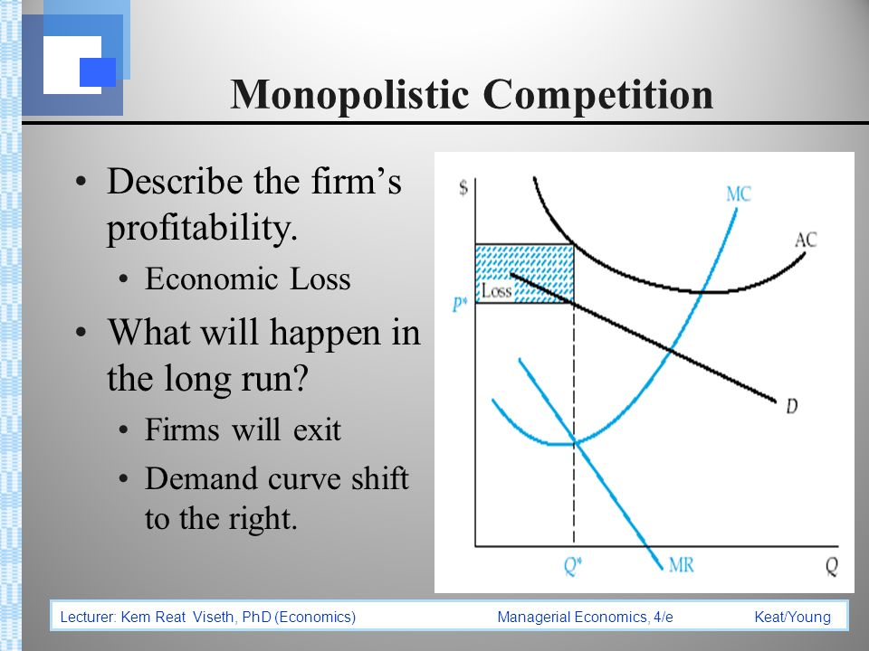 Monopolistic competing firms