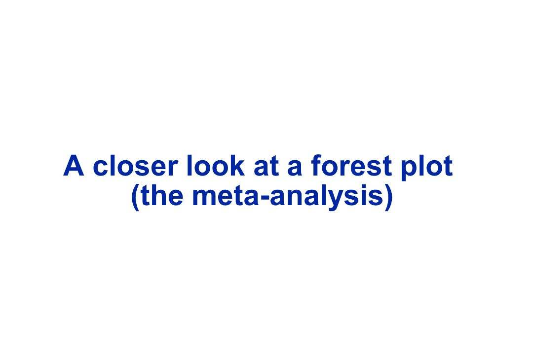 A closer look at a forest plot (the meta-analysis)
