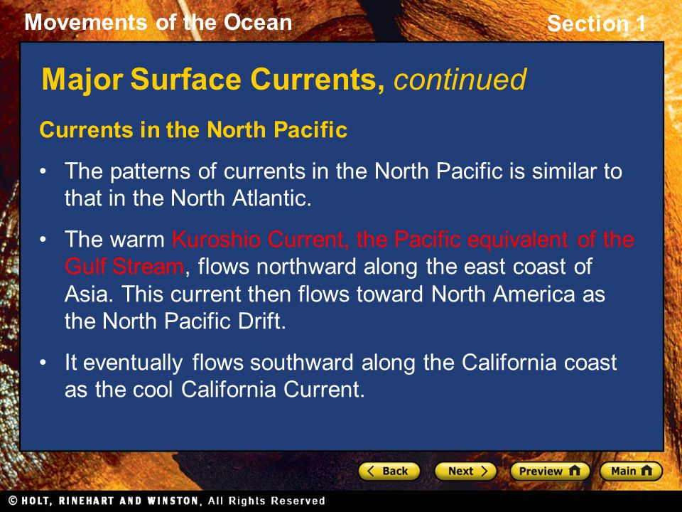 Major Surface Currents, continued