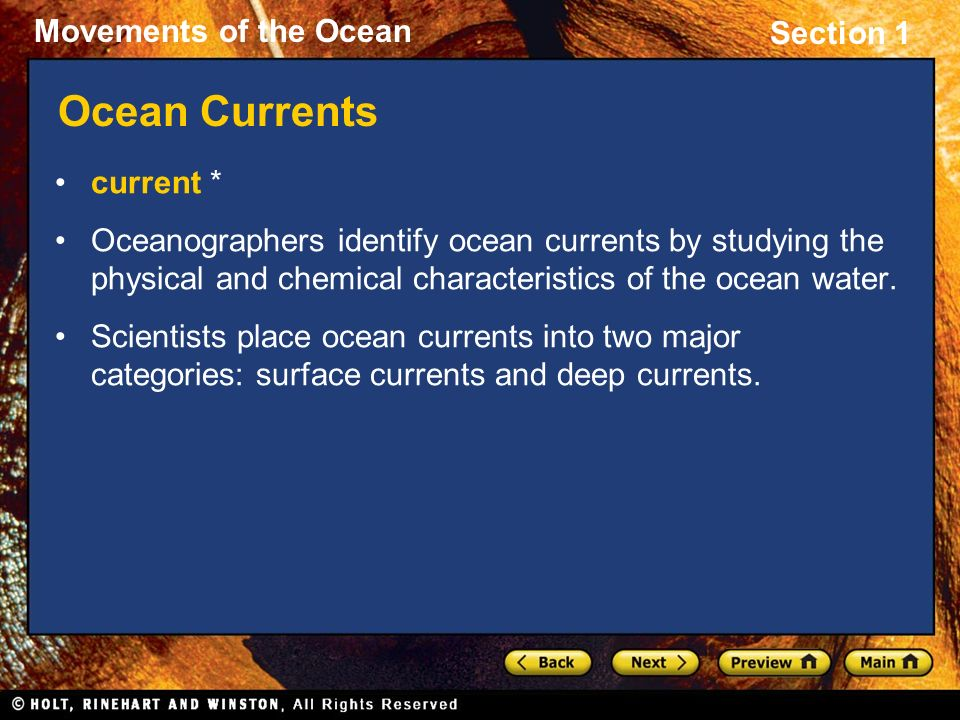 Ocean Currents current *