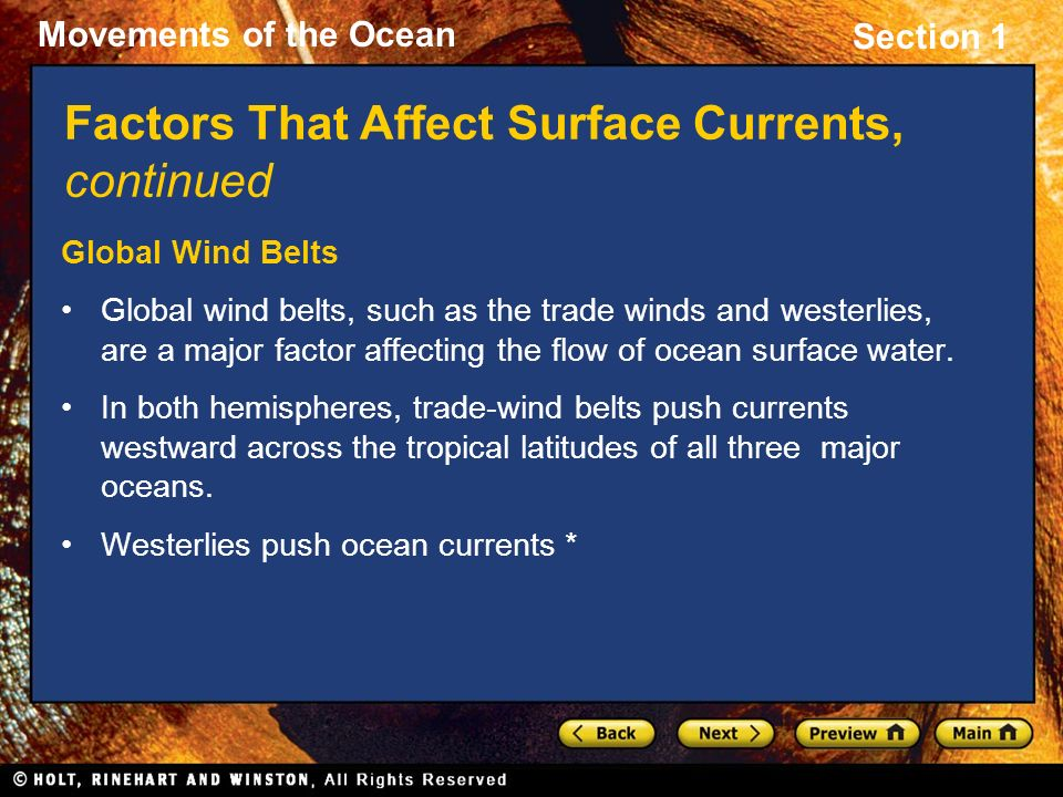 Factors That Affect Surface Currents, continued