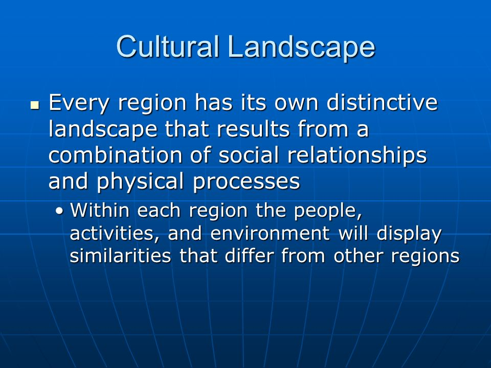 identify the three cultural regions of Regional subcultures of the united states  i identify the cultural characteristics of each subculture and relate my  elazar has not adjusted his mapping of the.