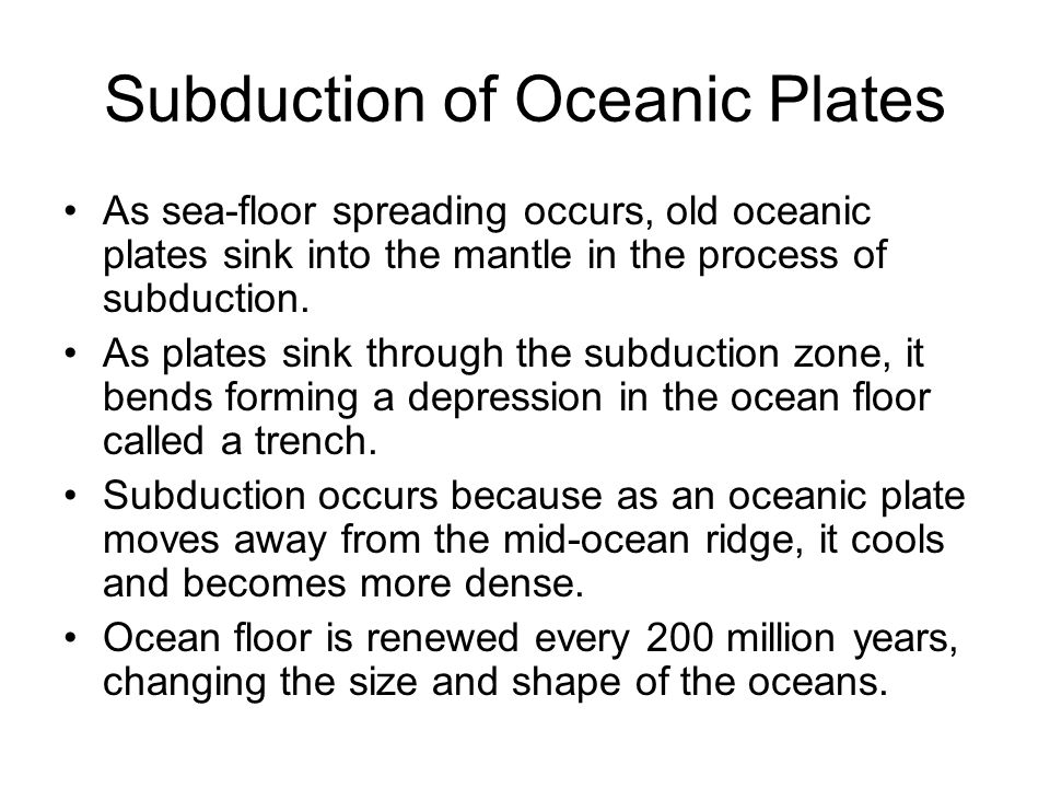 Earth and moon formation and structure ppt video online for How does subduction change the ocean floor