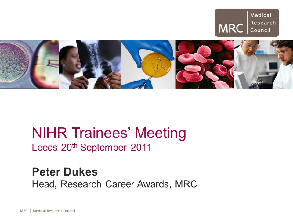 NIHR Trainees' Meeting