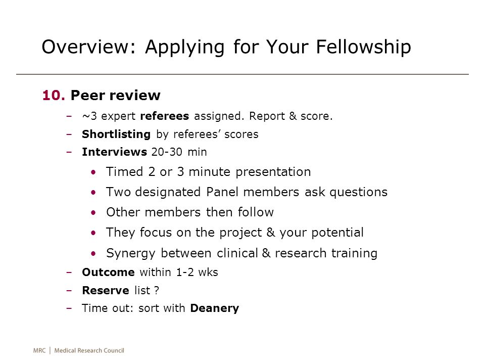 Overview: Applying for Your Fellowship