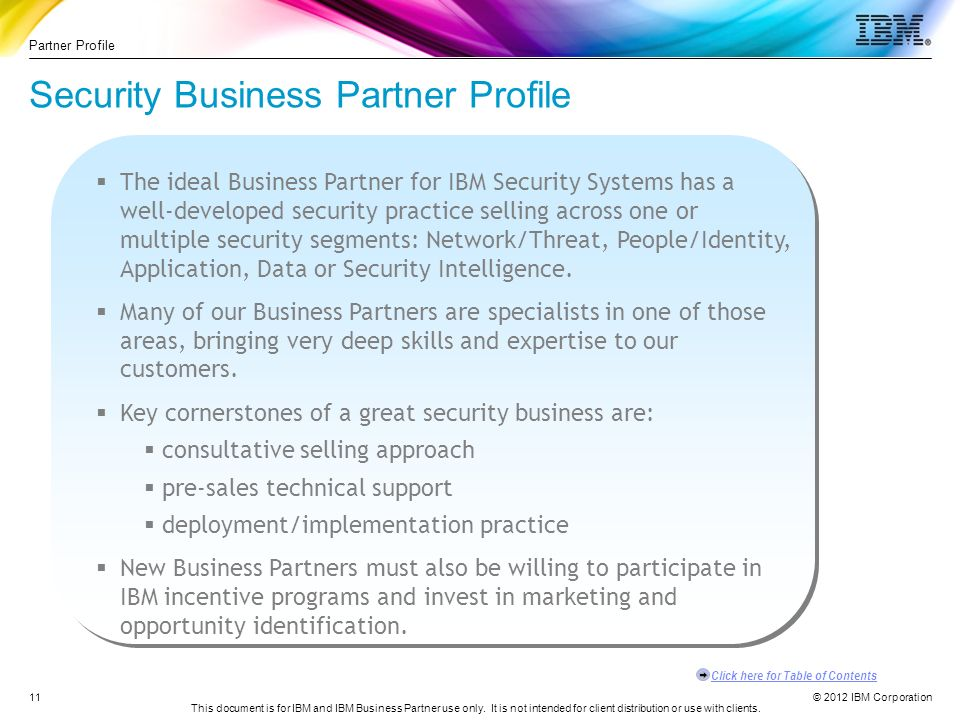 Security Business Partner Guide Value Propositions - ppt ...