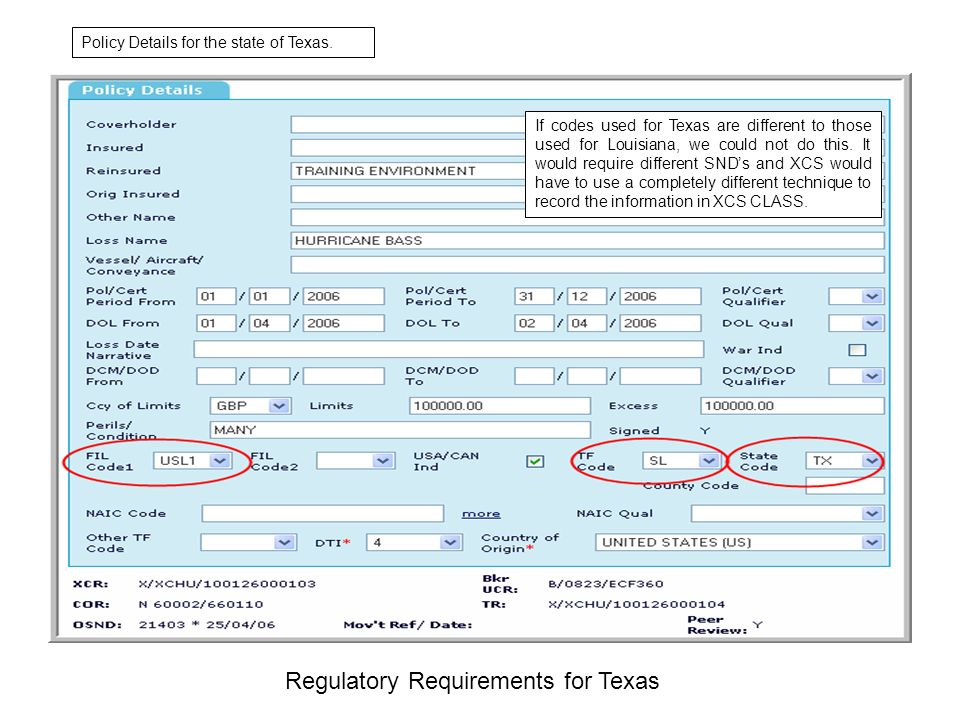 Regulatory Requirements for Texas