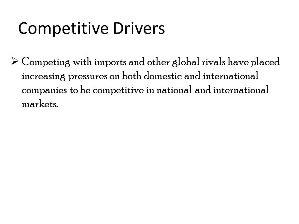 drivers of globalization in international business pdf