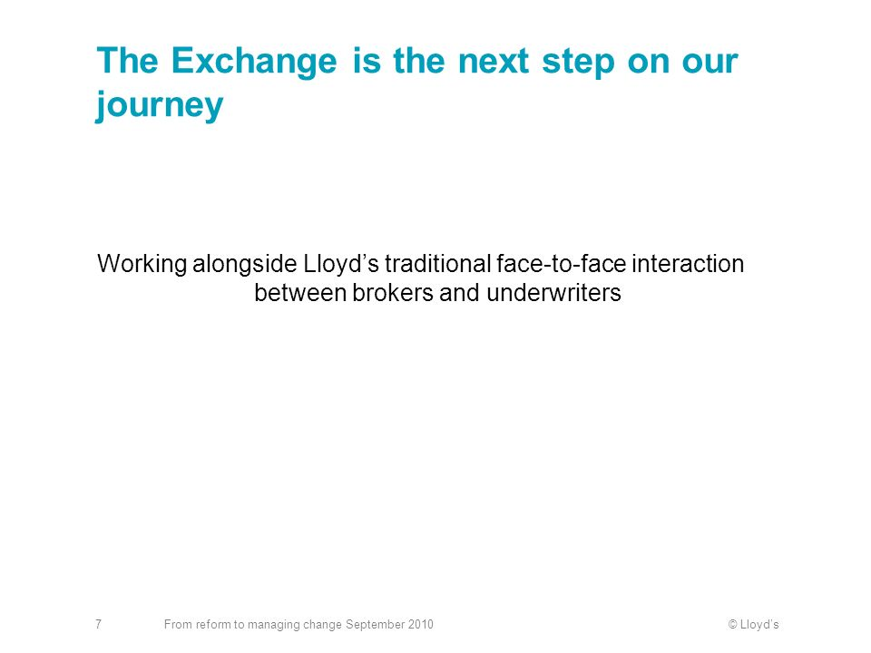 The Exchange is the next step on our journey