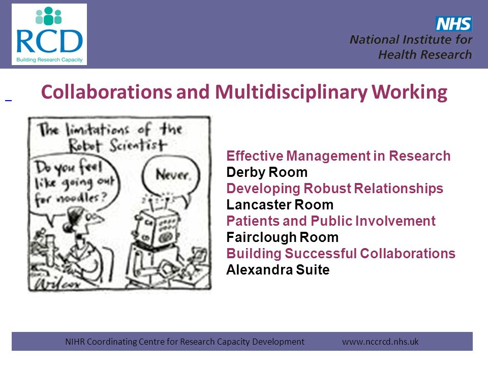 Collaborations and Multidisciplinary Working