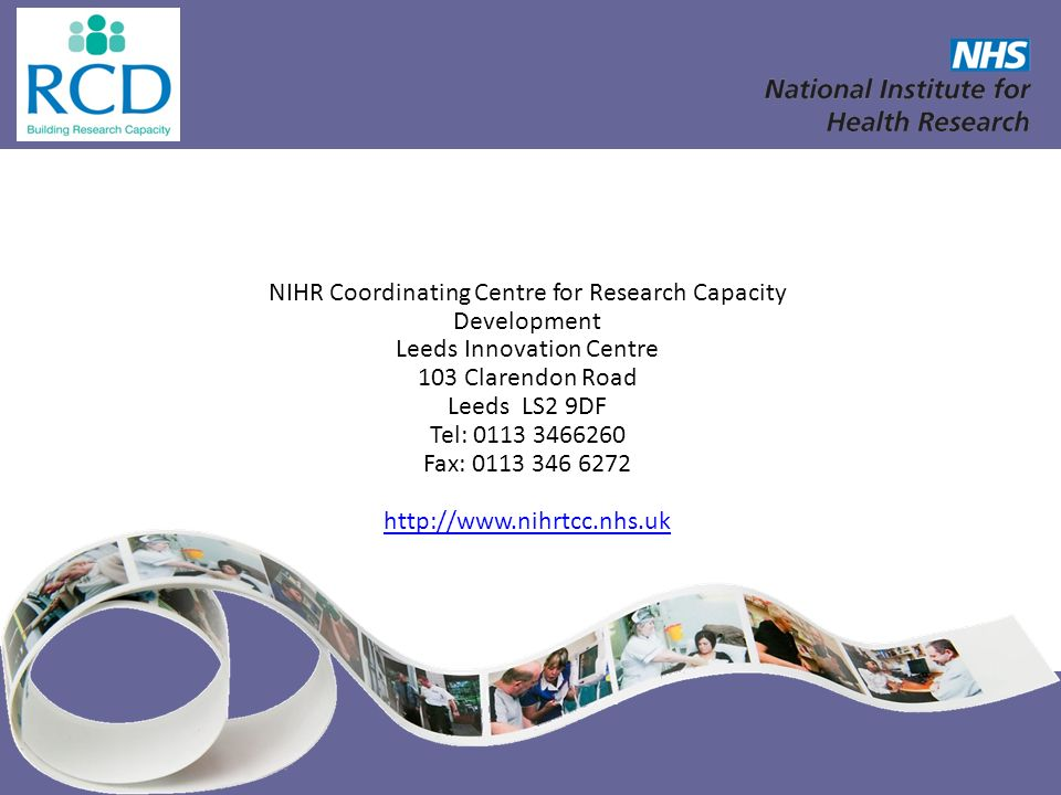 NIHR Coordinating Centre for Research Capacity Development