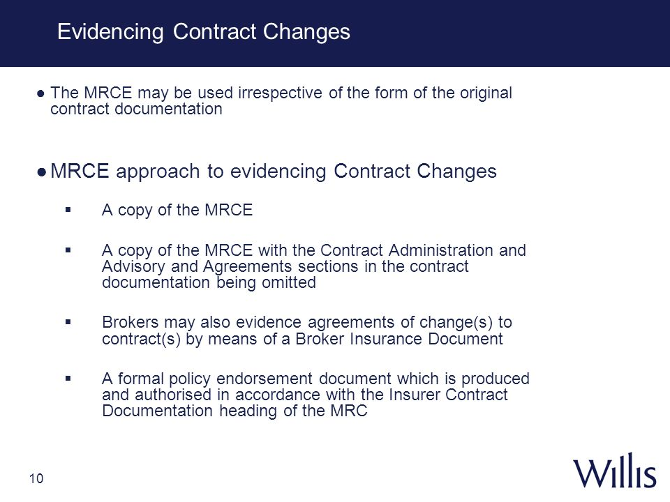 Evidencing Contract Changes