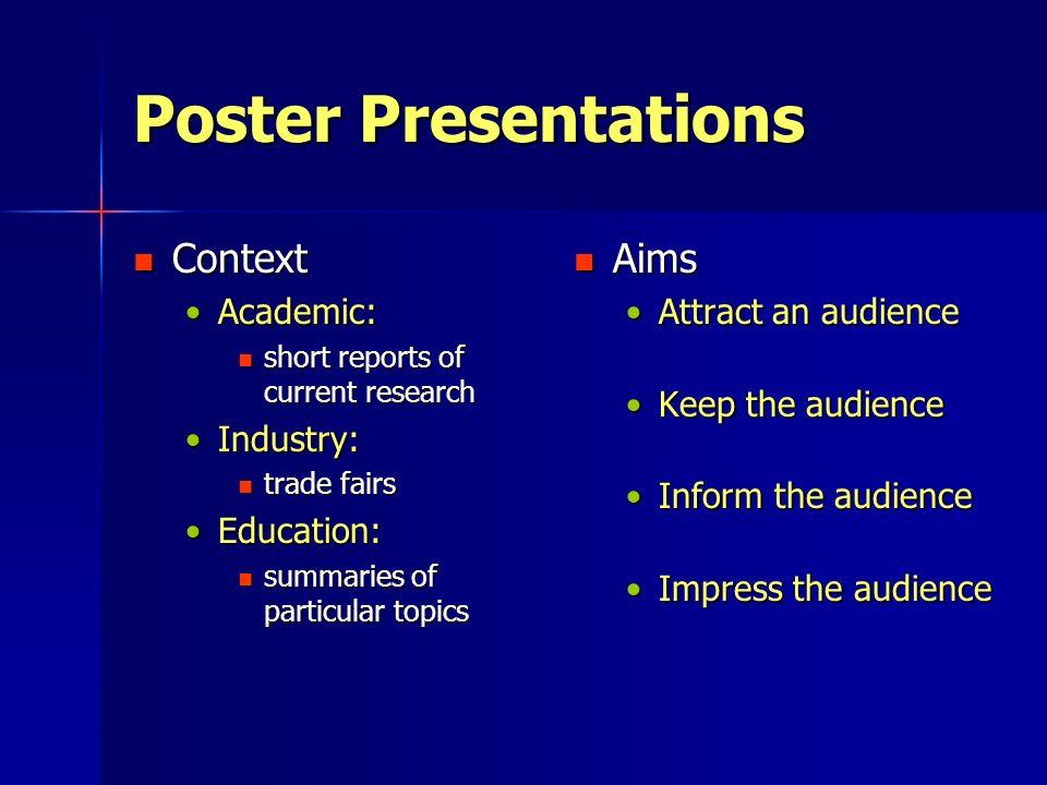 good topics for poster presentation