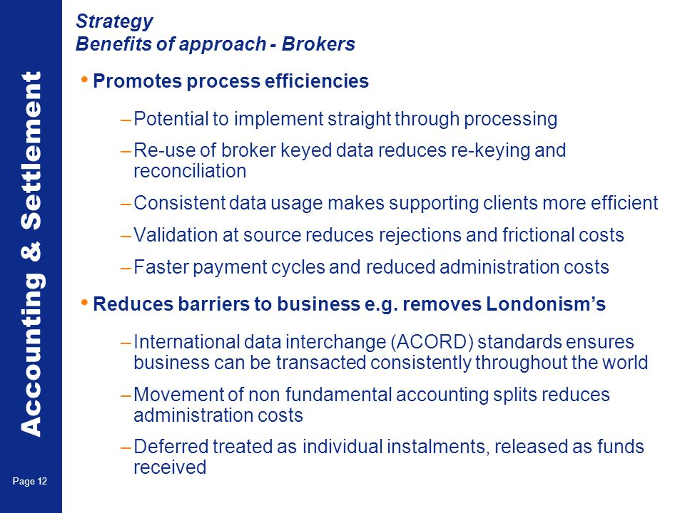 Strategy Benefits of Approach - Carriers