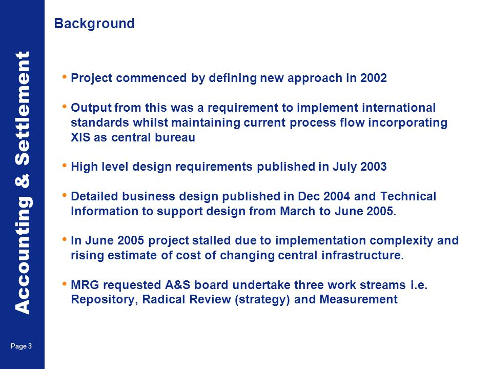 Three A&S Workstreams Repository Strategy Measurement Page 4