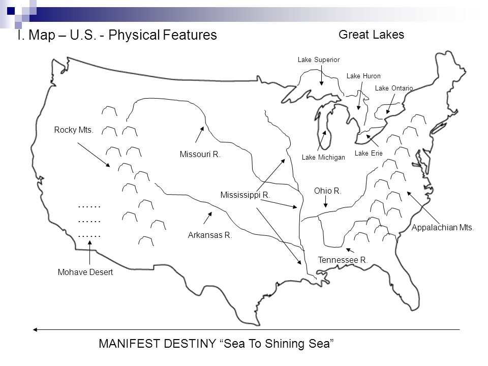 Units US Geography The Founding Of America Ppt Video - Us physical features