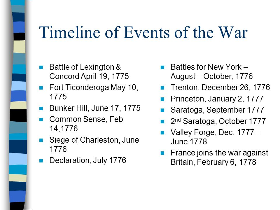 american revolution timeline - photo #26
