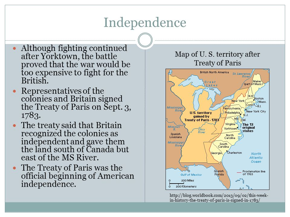 The American Revolution Ppt Download - Treaty of paris map