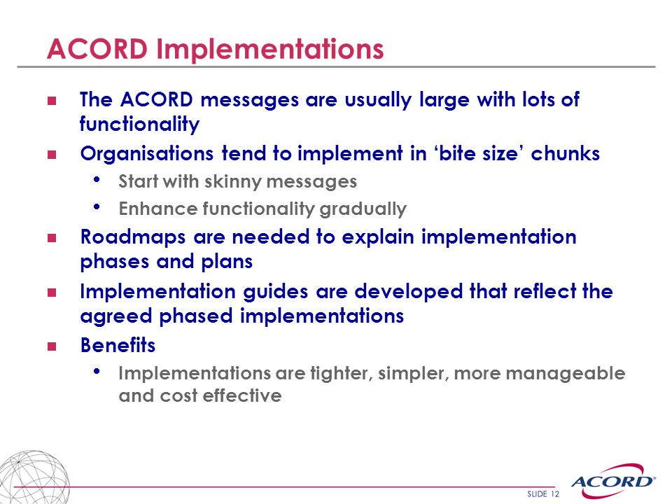 ACORD Implementations