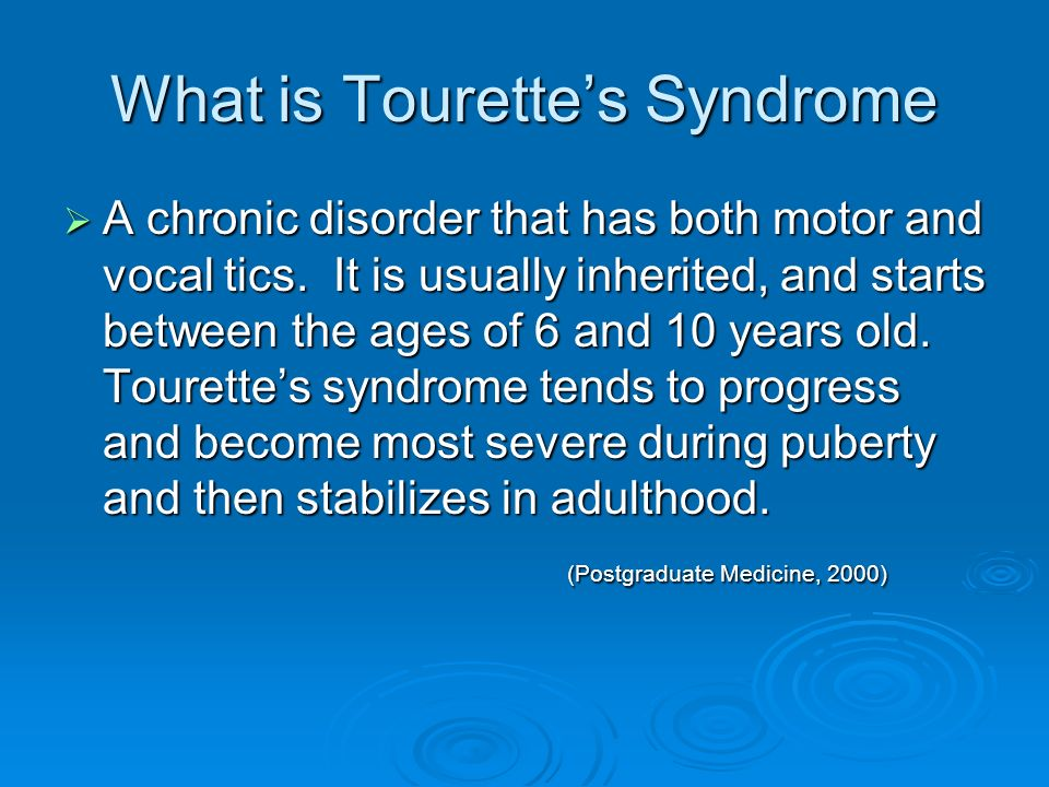 Tourette S Syndrome Ppt Download